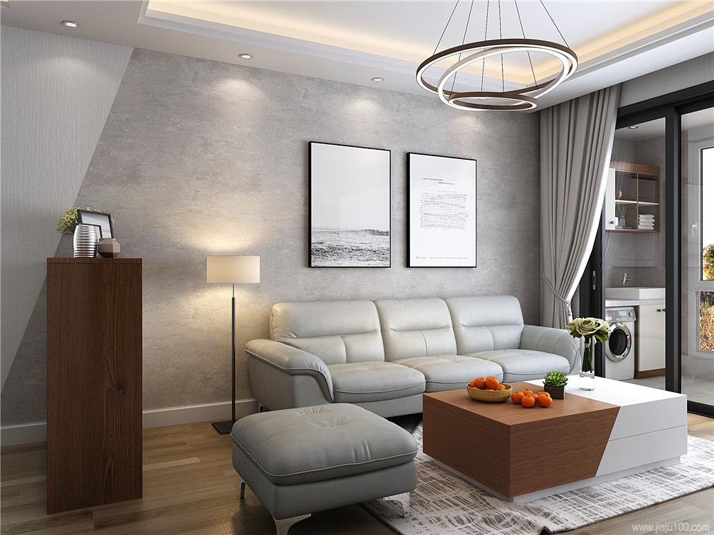 皮艺沙发客厅家具搭配