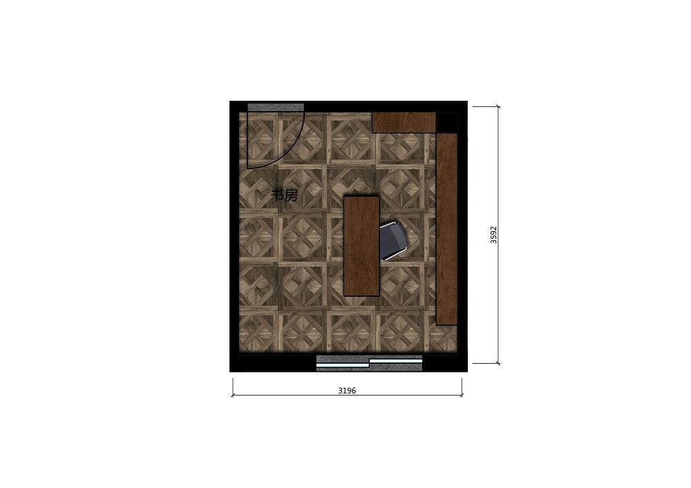 10.5平米书房彩平图