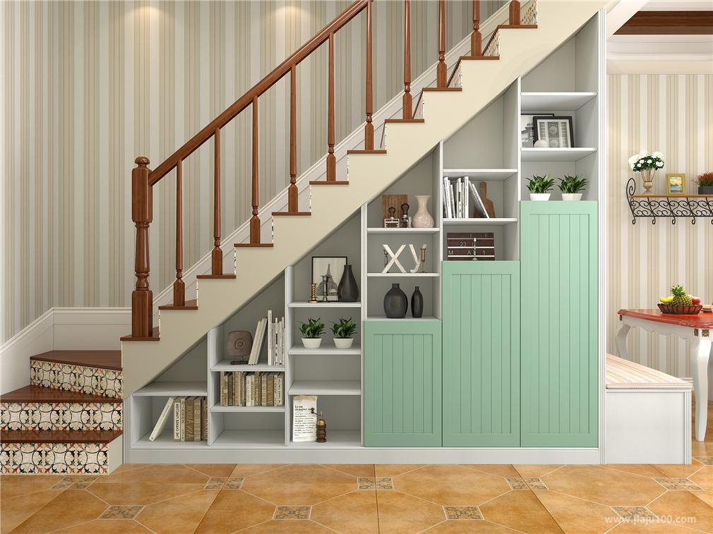 半开放式楼梯柜设计