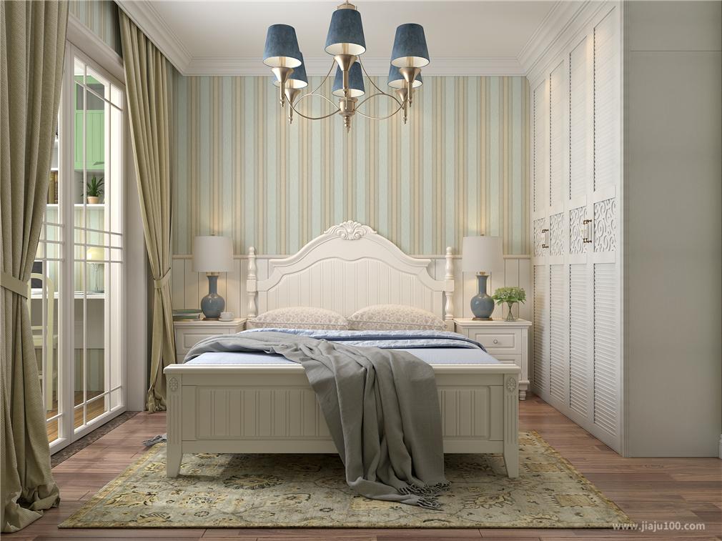 田园风格卧室家具设计效果图