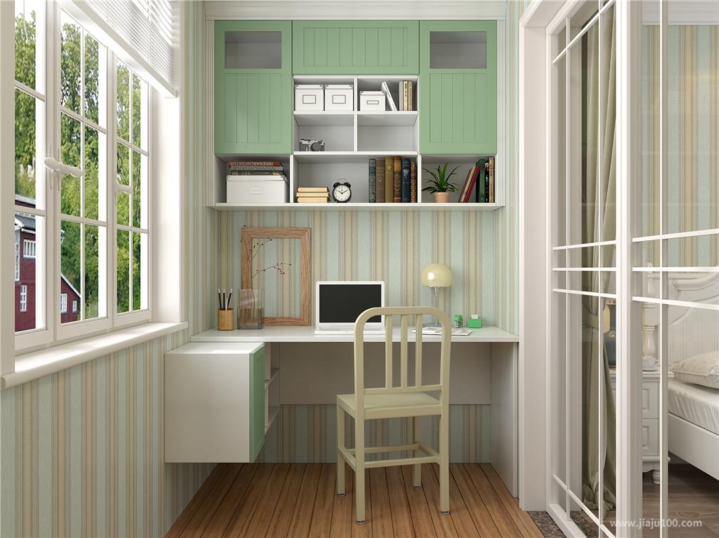 卧室阳台书桌柜定制