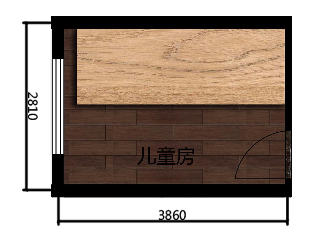 10平米儿童房室内户型图