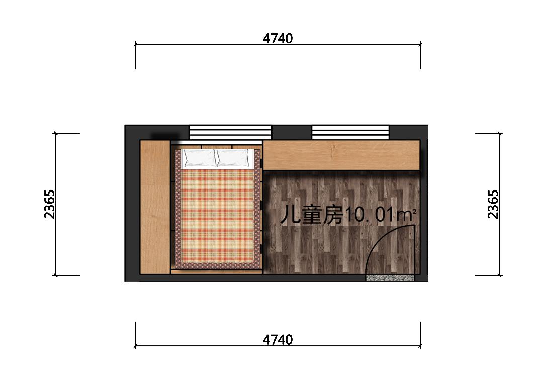 10平米儿童房室内平面图
