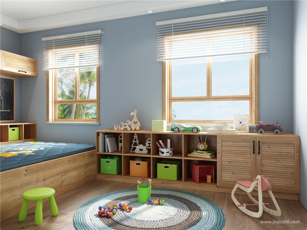 北欧风格儿童玩具房设计
