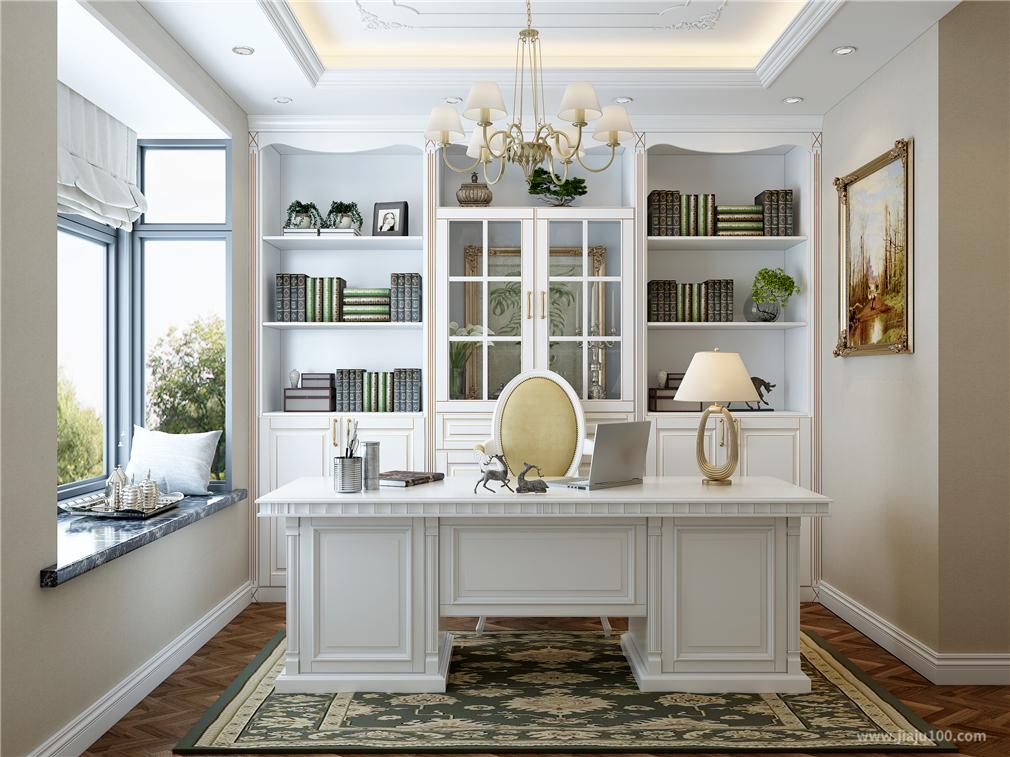欧式书房家具设计