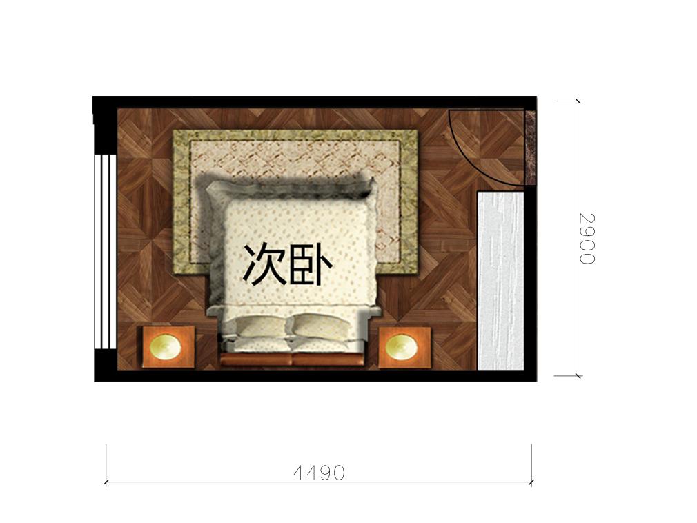 10.5平卧室室内户型图