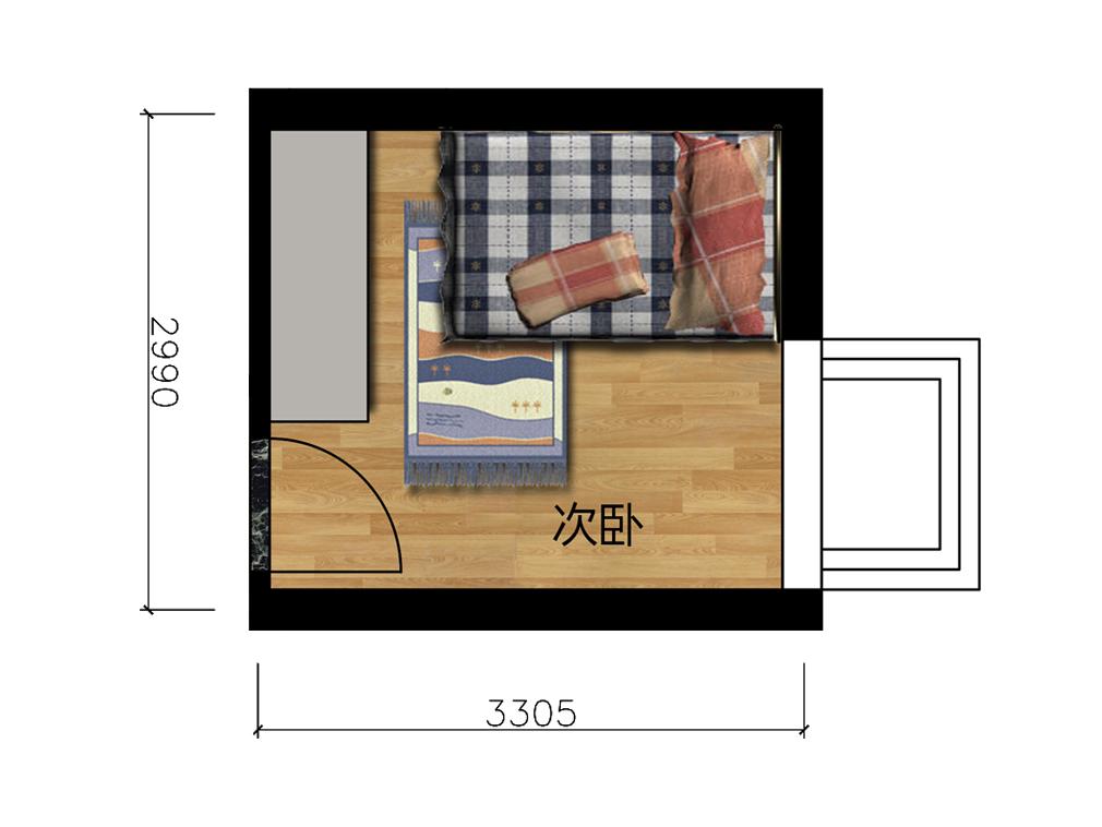 儿童房室内户型图