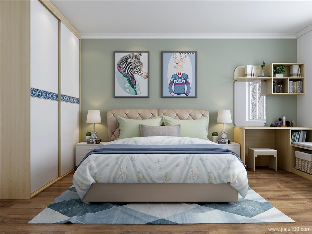 卧室真皮软床