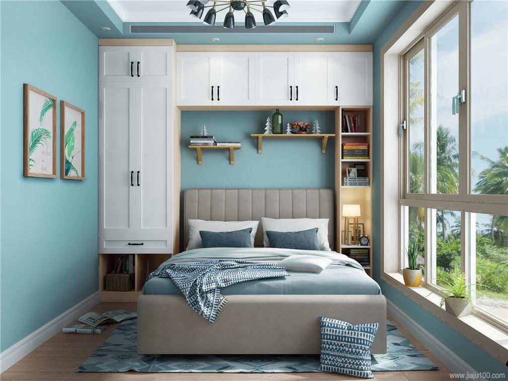 包圍式床頭柜衣柜組合