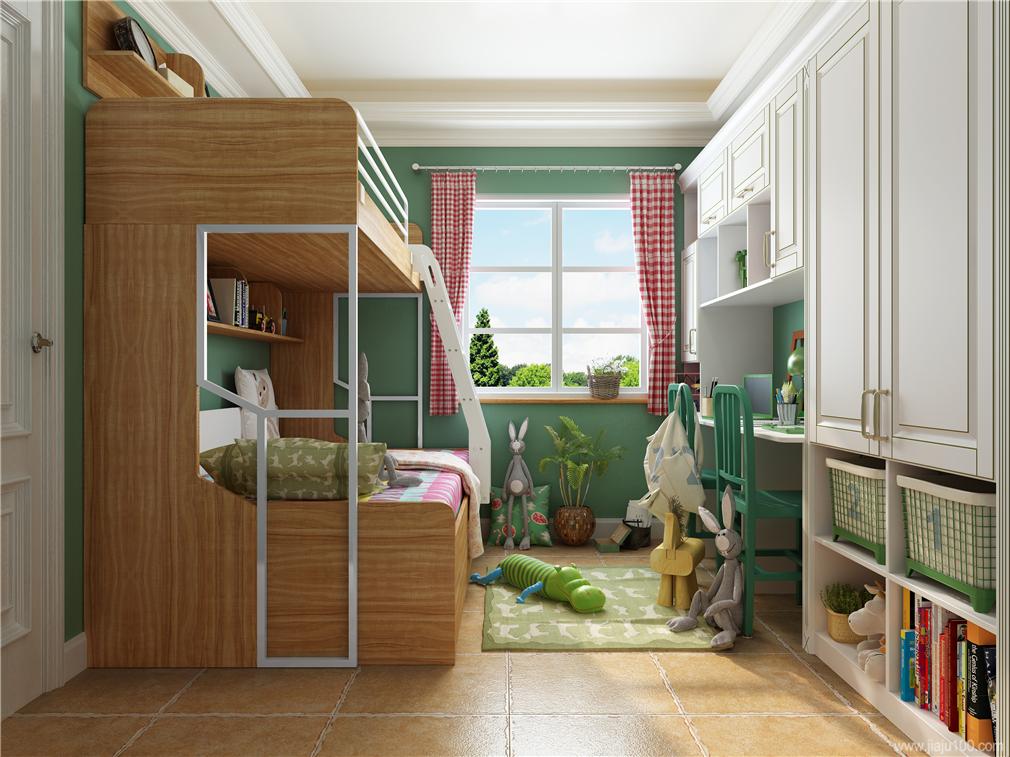 美式田园风格儿童房设计图