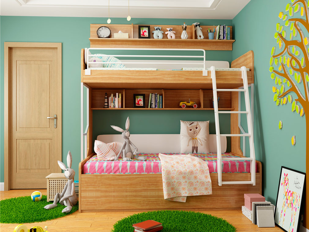 儿童房上下床设计
