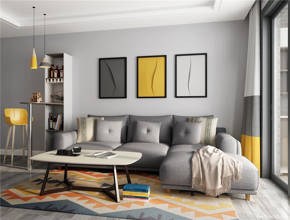 客厅沙发茶几设计