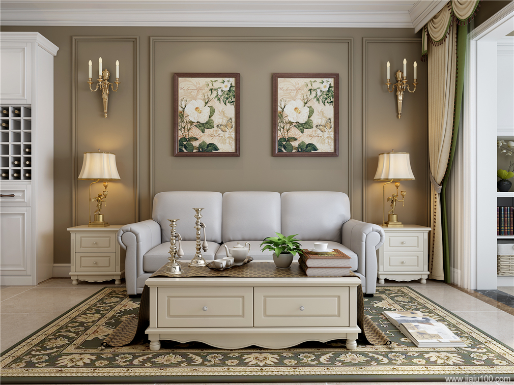 美式风格客厅沙发