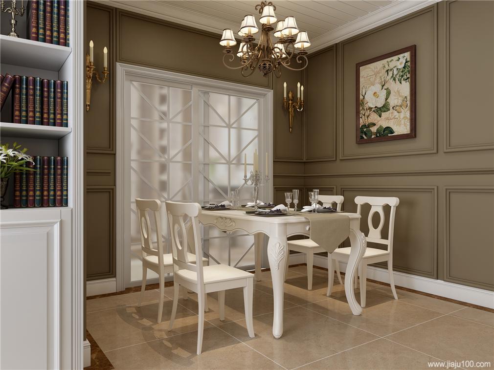 美式雕花餐桌椅