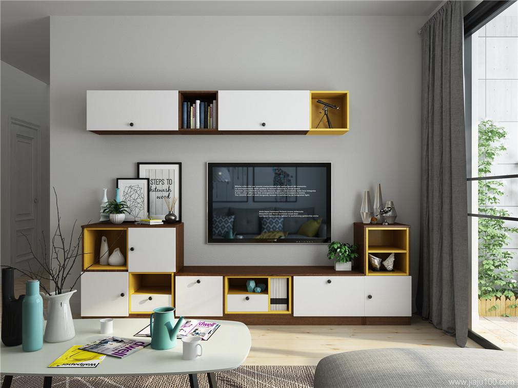 上下组合式电视柜