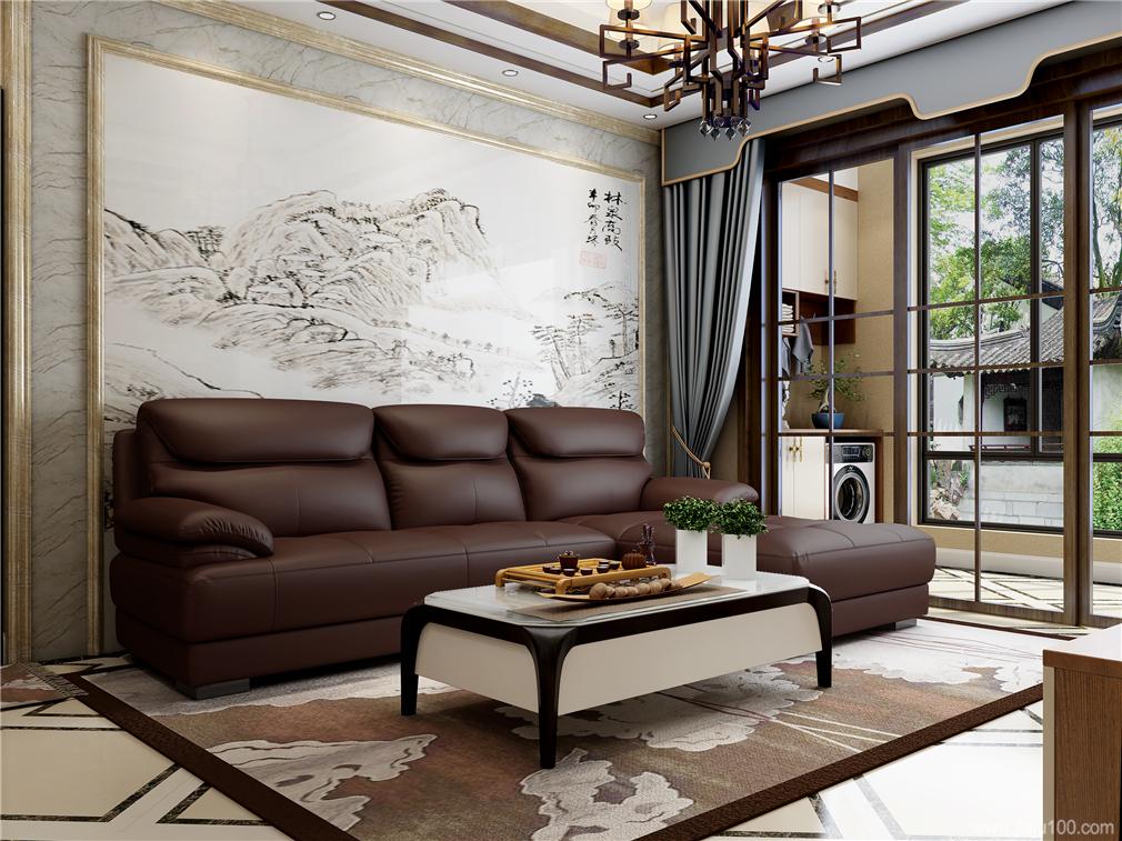 客厅沙发茶几组合