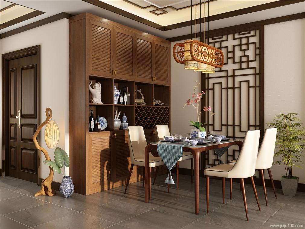 百葉門餐邊柜設計