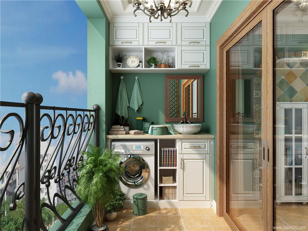 阳台洗衣机柜