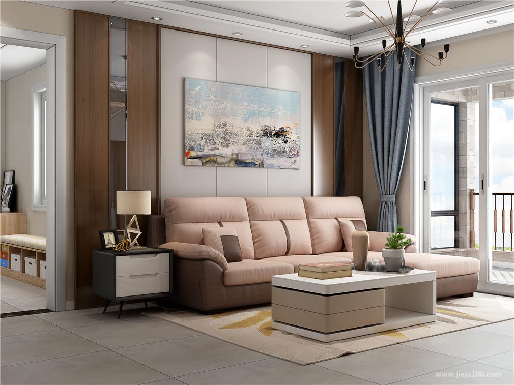 现代风格客厅沙发茶几组合