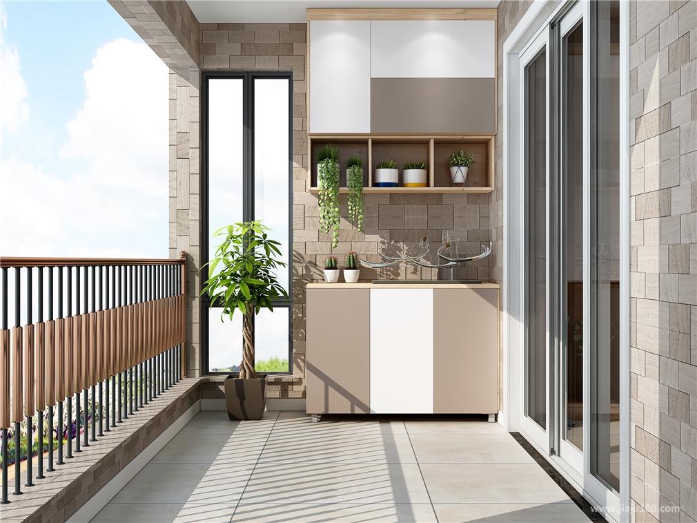 简约阳台柜组合设计