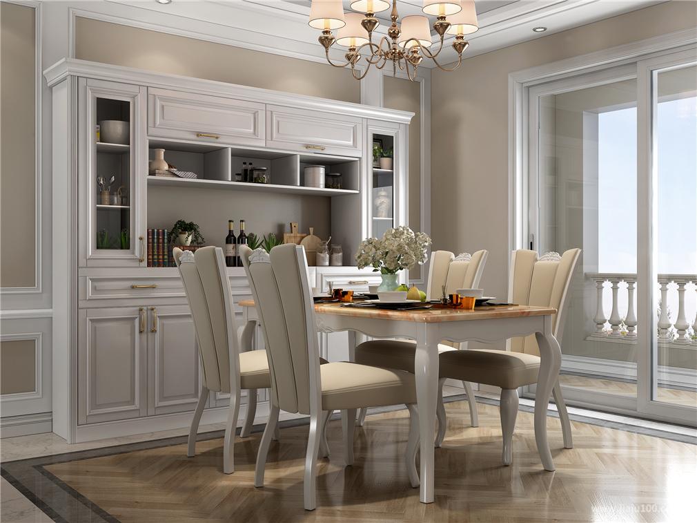 大理石台面餐桌椅
