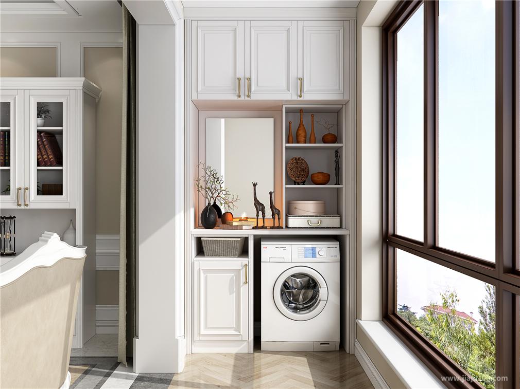 阳台洗衣机储物柜设计