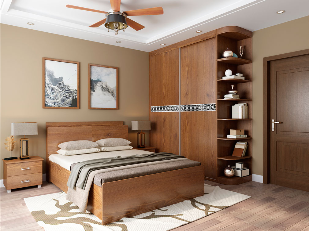卧室到顶衣柜设计