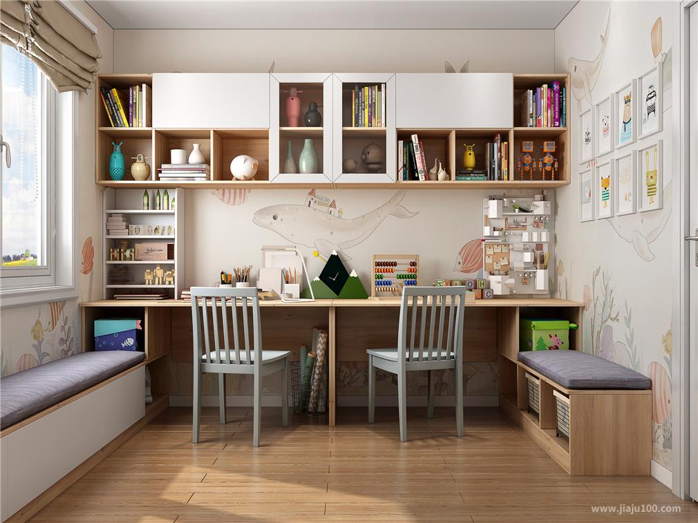 双人书房设计