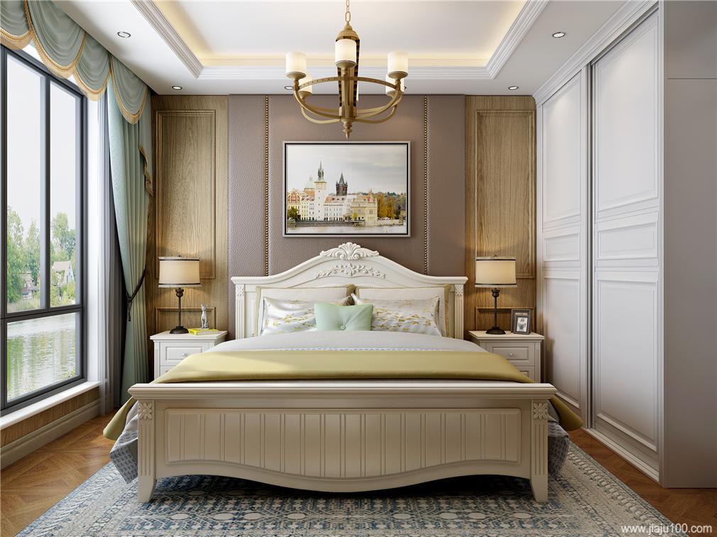 美式雕花软床
