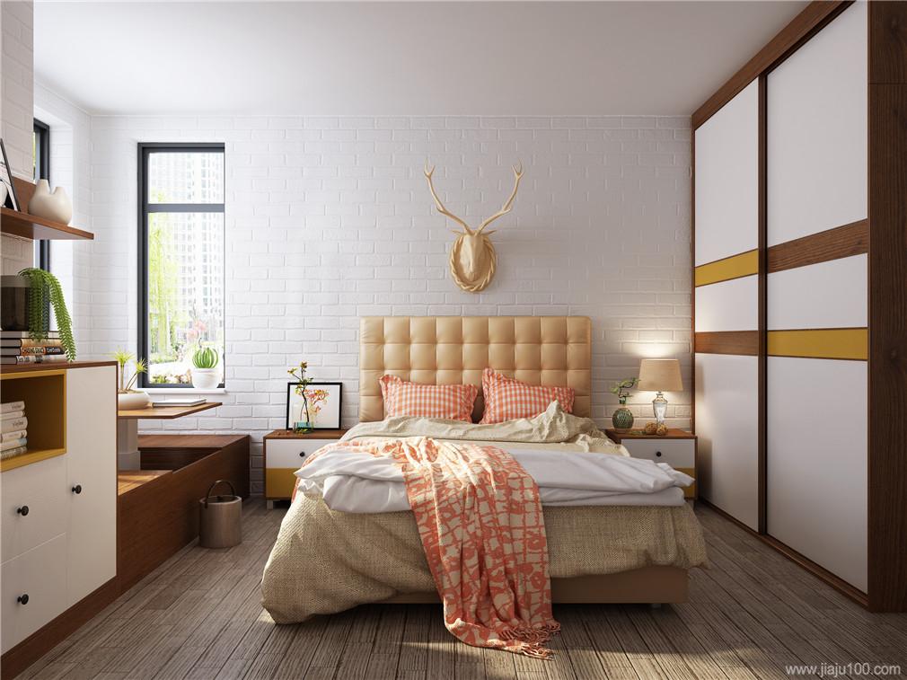 卧室简约软床
