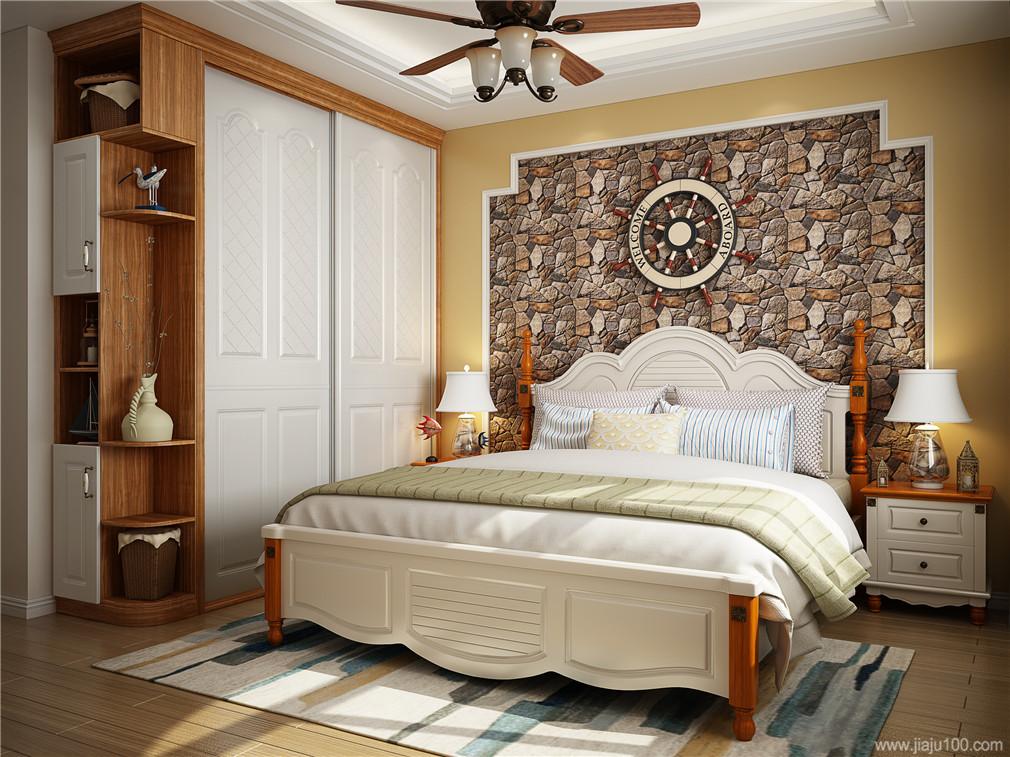 地中海风格卧室家具搭配
